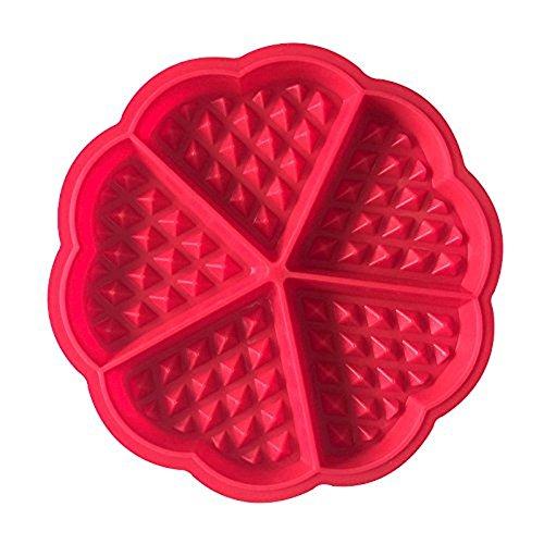 drawihi Mini Corazón gofrera molde Cupcake molde de silicona, para tartas moldes hornear herramientas