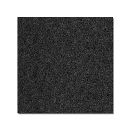 casa pura Teppichfliesen Vienna selbstliegend   hochwertiger Bitumen Rücken   strapazierfähiger Bodenbelag für Büro und Gewerbe   je 50x50 cm (anthrazit - 4 Stück = 1qm)