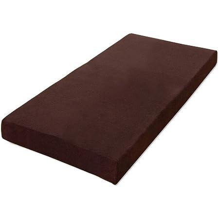 タンスのゲン マットレス シングル 厚み8cm 低反発 体圧分散 洗えるカバー付き ブラウン AM 000074 17 (51960)