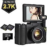Appareil Photo Numérique Appareil Photo 2.7K 24MP Ultra HD Camera Youtube Appareil Photo Compact 4X...