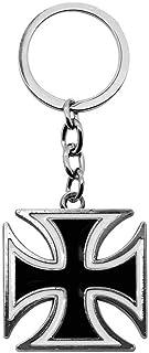 tumundo Schlüssel Anhänger Eisernes Kreuz Mit Geschenk Etui Iron Cross Anhänger Schlüsselband Schlüssel Weiß Rot Schwarz
