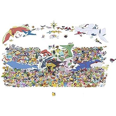 puzzles Niños Adultos 300/500/1000 Piezas Rompecabezas De Madera Anime Dibujos Animados Pokémon Pokémon Pikachu Juguetes Educativos(Size:300pc) por zhuwei