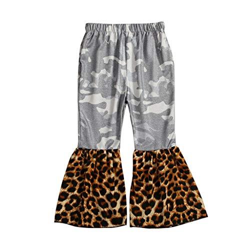 Allence Baby Mädchen Schlaghose Leoparden Muster Hosen Freizeit Pants Kleidung