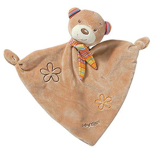 Fehn 160307 Schmusetuch Teddy – Schnuffeltuch mit Teddy-Köpfchen zum Greifen, Fühlen, Knuddeln und Liebhaben für Babys und Kleinkinder ab 0+ Monaten