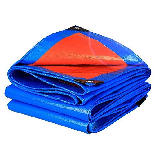 YXB Zonnezeil, waterdicht dekzeil, met metalen randen, opvouwbare anti-aging zonnebrandcrème luifel dakwagen tuinhuisje schuur cover FENGMING-yb (kleur : blauw, Maat : 2×3m) 2×2M Blauw
