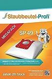 20 Staubsaugerbeutel AEG, S-Bag, Philips FC 9050...9099 -Jewel, FC 9100...9149-Specialist, FC 9150...9199-Performer (SP49) von Staubbeutel-Profi