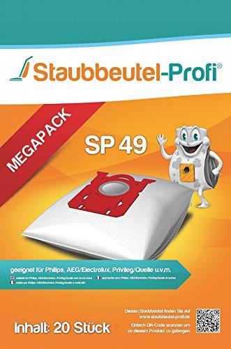 20 Staubsaugerbeutel geeignet für Philips S-Bag FC 8021/03, FC 8915/03, FC 8917/01 HomeHero, FC 8130/01, FC 8136/01 (SP49) von Staubbeutel-Profi®