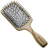 Kent LPF2 Large Cushion Paddle Hair Brush, Vented Taming Fine Pins Hair Detangle Brush for Long Thick and Curly Hair, Scalp Massager and Growth Stimulator Wet or Dry Hair Detangling. Made in England