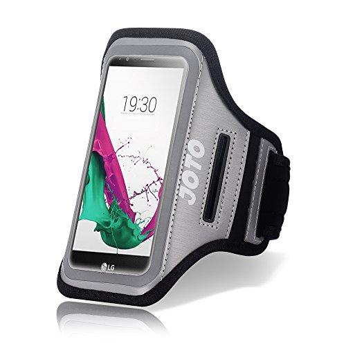 JOTO LG G4Armband, Sport Armband Schutzhülle für LG G4, mit Schlüssel Halter, Kreditkarte/Geld Halter, Proof, Best für Fitnessraum, Sport Fitness, Laufen, Walking, Training, Workout LG G4 grau