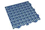 Set 4 Uds Loseta PVC Alveolada Azul