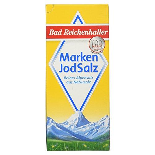 Bad Reichenhaller Marken JodSalz, Reines Alpensalz aus Natursole, 500g