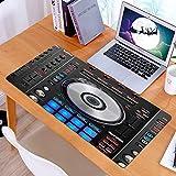 Alfombrilla Ratón Grande Gaming Mouse DJ Pioneer Pattern Impresión 3DBase de Goma, Portátil, Ordenador
