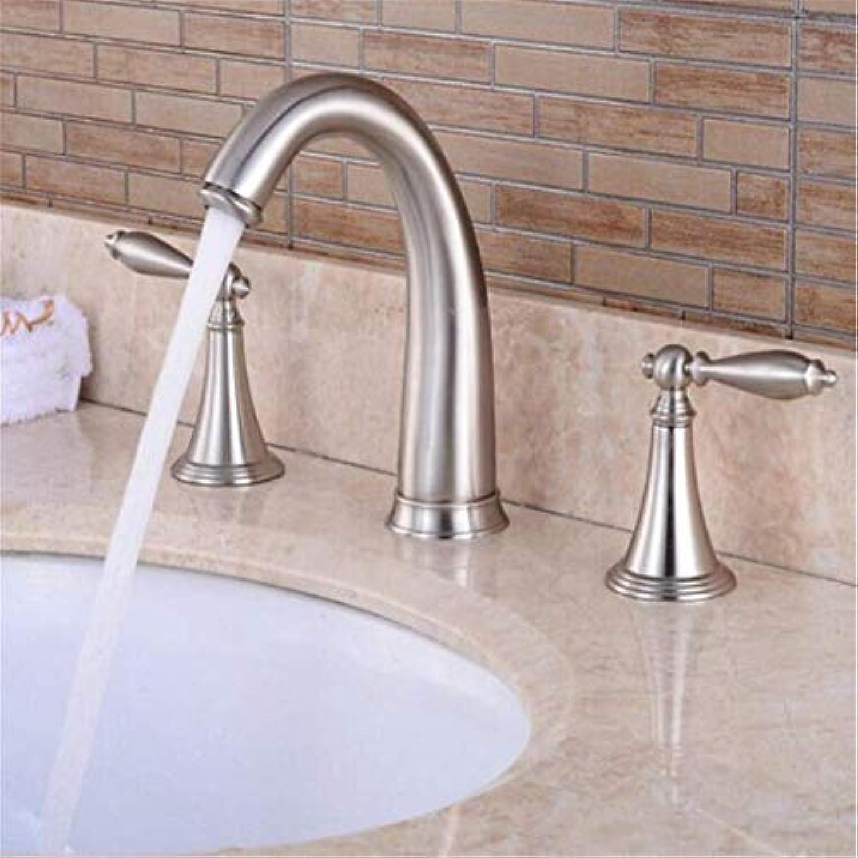 Wasserhahn Retro überzug Mischer Wasserhahn Wasserhahn Waschtischmischer Badewanne Aus Gebürstetem Nickel Wasserhahn Deck Montiert Badezimmer Waschbecken Wasserhahn