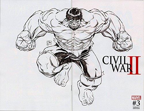 "Marvels Civil War II #3 (OF 7) Joe Quesada Midnight Launch ""Sketch"" Wrap Variant DEATH OF THE HULK!"