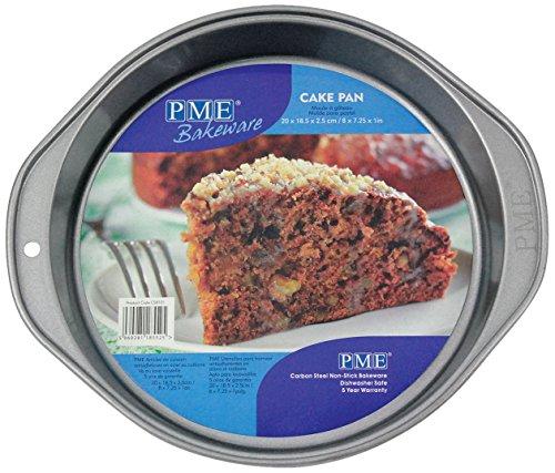 PME CSB101 Moule Rond Anti-adhérent en Acier au Carbone 228 x 38 mm de Profondeur, Silver, 27,2 x 24,4 x 3,8 cm