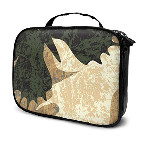 Marmorierte Schmetterlinge Portable Train Cosmetic Case Organizer
