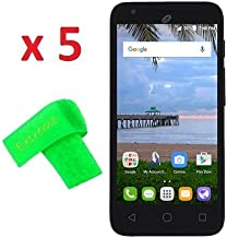 5 x Alcatel One Touch PIXI Avion LTE A570BL A571VL Screen Protector Guard CLEAR PRE-CUT No Cutting Require Perfect Fit + EXTREME BRAND (5 x Clear Screen Protector)