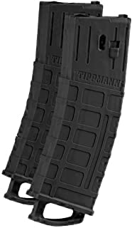 Tippmann TMC MAGFED Paintball Marker Magazines - 2 Pack Black