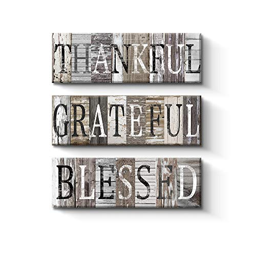 Thankful, Grateful, Blessed Sign