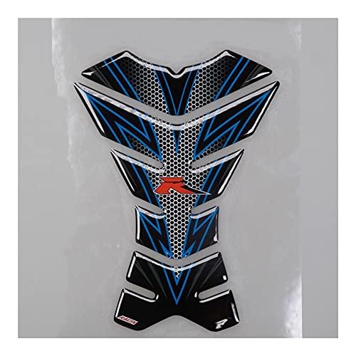 LYJB Calcomanías de Motociclismo para ZX6R para Ninja c&b-r Gsxr Motocicleta Protector de Almohadilla de Tanque Universal 3D Devil Skull Angel Fire Fishbone calcomanía Pegatina (Color : I)