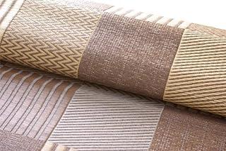 イケヒコ い草ラグ 花ござ カーペット 4.5畳 国産 『京刺子』 ブラウン 江戸間4.5畳(約261×261cm)