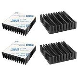 CTRICALVER L40mm X W40mm X H11mm 4pcs Disipador de Calor Negro Radiador de Aluminio Fuego TV Kit de Bricolaje Placa de Circuito de Chip IC Chip Mosfet Adecuado para Amplificador LED de Alta Potencia