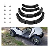10L0L Golf Cart Standard Fender Flares Front and Rear for EZGO RXV 2008-2015 G&E Golf Carts with Metal Hardware (Set of 4)