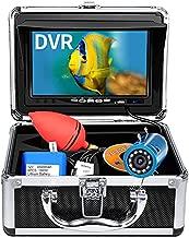 Underwater Fishing Camera, Anysun Ice Fishing Camera Portable Video Cameras Fish Finder with 7'' HD Monitor and Waterproof 12 Lights Fishing Camera for Boat Kayak Lake Sea Fishing 98ft/30m (8GB Card)