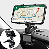 Car Dashboard Phone Holder, PKYAA Rotating Dashboard Clip Cell Phone Holder, 360-Degree Rotation Mobile Clip Stand for 4 to 7 inches Smartphones