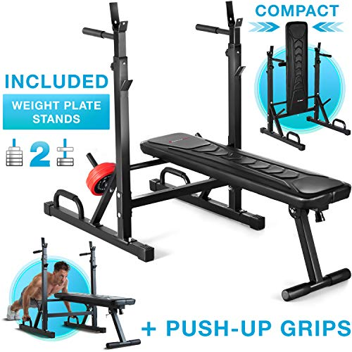 Sportstech Innovative 21in1 weight bench with weight plate stand &...