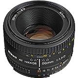 Nikon AF Nikkor 50mm f/1.8D Prime Lens (Black) - International Version (No Warranty)