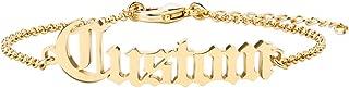 Name Bracelet Personalized Old English Bracelet Custom Engraved Bracelet with Name Personalized Name