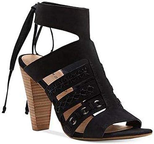 Lucky Brand Brand femmes Radfas Leather Open Toe Décontracté Ankle Strap, noir, Taille 7.5  Envoi gratuit pour toutes les commandes