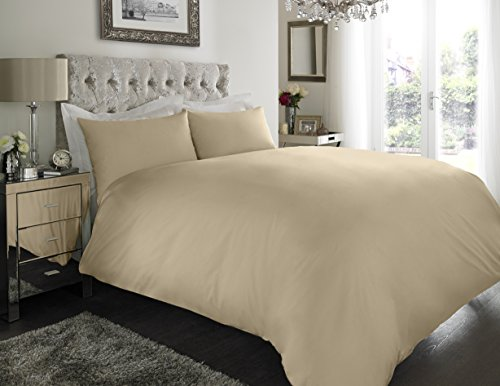 Sapphire Collection 100% Egyptian Cotton 300 Thread Count Duvet Cover With Pillow Case Bedding Set (Super King, Mocha)