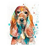 Paint by Numbers for Adults DIY Oil Painting Cocker Spaniel Animal Paint by Numbers Painting Kits Canvas Home Office Decoration Gift