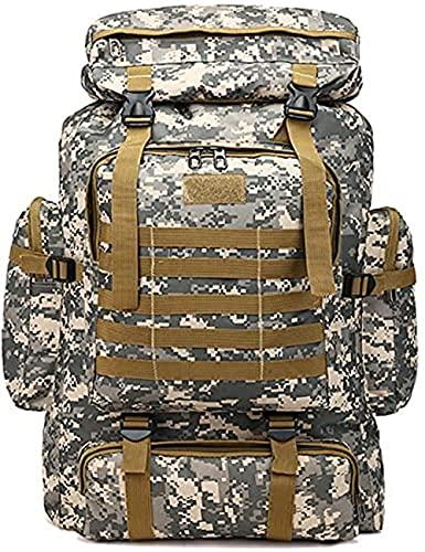 Zaino tattico militare, grande capacità, impermeabile, per sport all'aria aperta, campeggio, escursionismo, viaggio (100L)