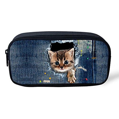 Coloranimal Trousse motif animal mignon chat enfant école Petit cat pattern-3