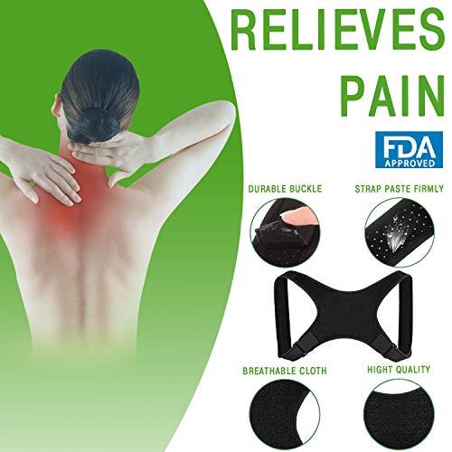 [New 2019] MESAKI Posture Corrector for Women Men | FDA Approved | Effective Comfortable Adjustable Posture Correct Brace - Posture Support - Back Brace - Kyphosis Brace (25