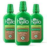 Contains three 16 ounce bottles of hello super fresh plus moisturizing hemp seed mouthwash Thoughtfully formulated with hemp seed oil, coconut oil, and spearmint. This super fresh mouthwash rinses away particles brushing may miss, cleans and freshen,...