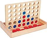 Small Foot 3460 jeu de société 'Puissance 4, format voyage ', 'Puissance ' version de voyage dans une boîte en bois