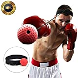 Sweethos Unisex's Boxing Reflex Fight Ball, Black, 24174 cm