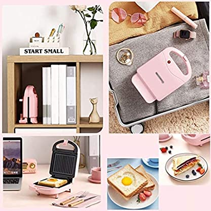 Hogreat-Sandwich-Toaster-Sandwich-Toaster-2-in-1-Elektrische-Waffelmaschine-Sandwich-Maker-Eisen-Edelstahl-Panini-Press-Antihaftbeschichtung-fuer-Fruehstueck-Toaster-Andere-Snacks-gruen