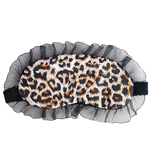 fablcrew Schlafmaske mit Spitze zu Hause oder Reisen für Damen, Farbe Leopard