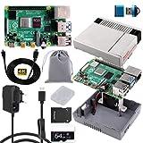MakerFun Raspberry Pi 4 8 GB RAM Starter Kit con 32GB SD Card, Nes4Pi Caja, 5V 3A Alimentación, Disipadores, Ventilador, Cable Micro HDMI y Lector de Tarjetas SD