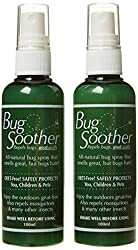 2 x 100ml Pump Spray Insect Repellent All Natural Chemical Free Repellent Deet Free, Alcohol Free, Icaridin Free, Permethrin Free Pleasant Scent, Non Greasy, Contains Vitamin E Repels Mosqitoes, Midges, Flies and Wasps