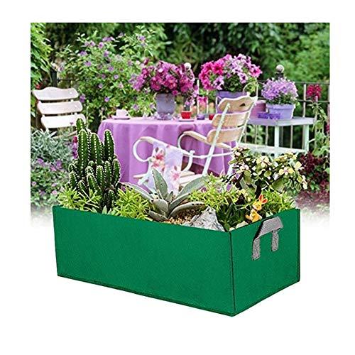 Glueckme Bolsa de siembra Contenedor Cama de jardín Rectángulo Ambiental Plantas Transpirables Flores Verduras Bolsa de Cultivo Maceta Maceta
