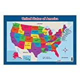 USA Map for Kids - United States Wall/Desk Map (18' x 26' Laminated)
