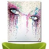 Pintura a la acuarela hermosa chica arte mural póster imagen de la pared en lienzo imagen para sala de estar dormitorio para niños decoración moderna para el hogar pintura sin marco 50x70 cm