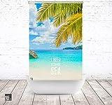 ERSATZ KLEINE Wolke Duschrollo für Leerkassette Vitamin sea Palm Textil Badewanne