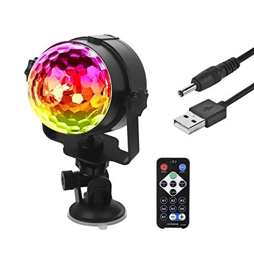 Eyourlife Discokugel Discolicht LED Lichteffekt Projektor für Disco DJ Partys Club Bühnenbeleuchtung Strahler